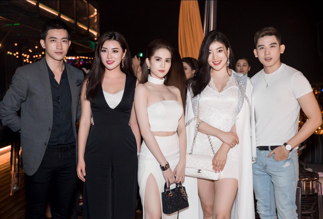 3 người đẹp khoe sắc bên cạnh 2 nam thần Võ Cảnh và Minh Trung.