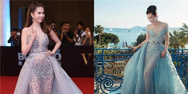 """Tuy nhiên, bộ váy lại nhanh chóng bị phát hiện """"trông na ná"""" thiết kế mà Lý Băng Băng từng mang đến thảm đỏ Liên hoan Phim Cannes 2015."""