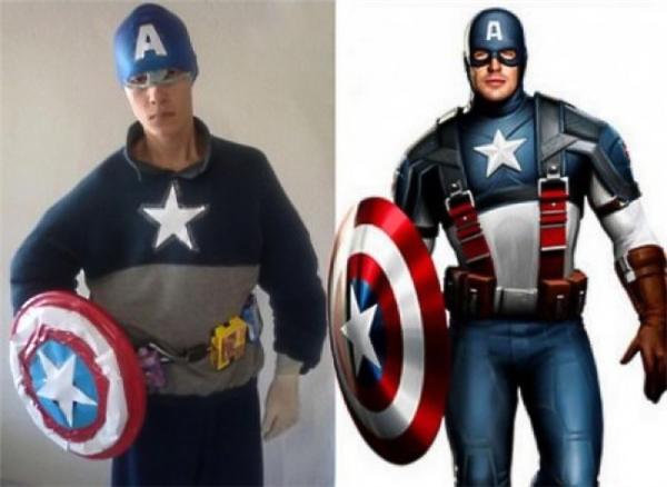 Trang phục là của Captain nhưng thân hình là của... Steve Rogers.
