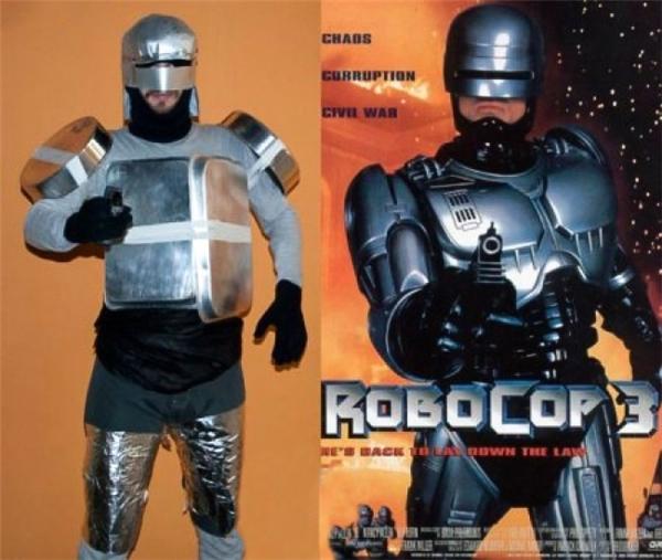 """Mấy cô cấp dưỡng mà phát hiện mất tô mất mâm là bạn này """"ăn đòn"""" ngay, ở đấy mà cosplay RoboCop nhé."""