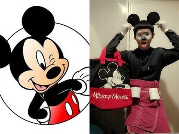 Mặt Chuột Mickey đâu có trắng nhách như thế hở?!