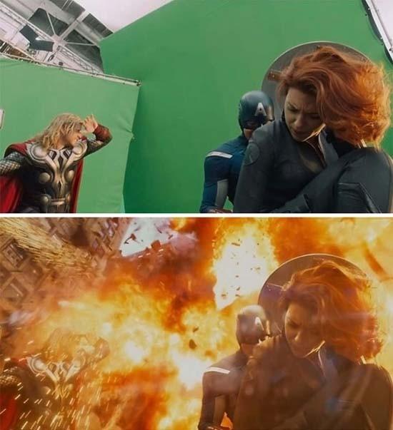 Màn cháy nổ hoành tráng trong phim đều nhờ vào hiệu ứng vi tính.