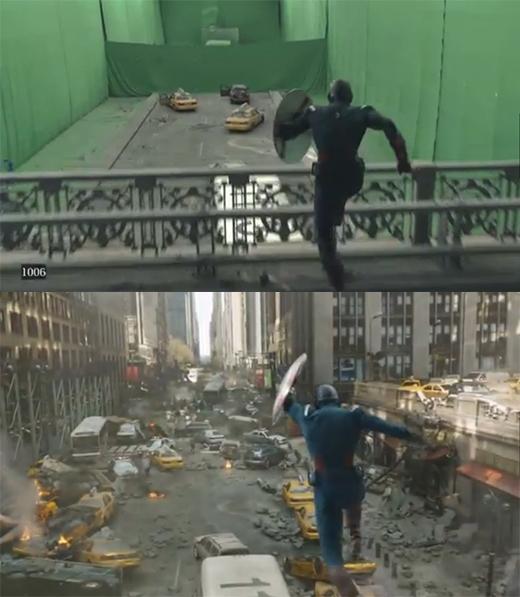 Sự thật sau cảnh Captain phi thân hoành tráng giải cứu thành phố.