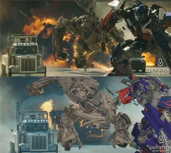 Những trận đấu không khoan nhượng giữa các siêu robot trong Transformers chỉ là cuộc chiếc của các mô hình xốp.