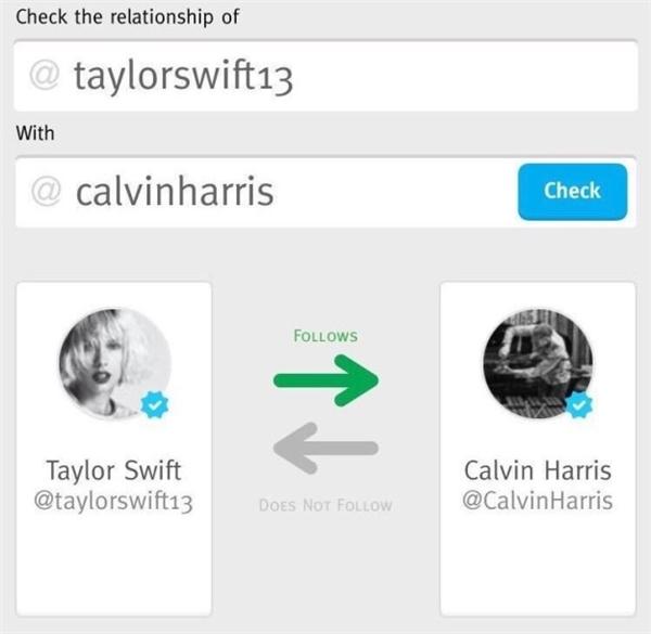 Mọi chuyện bắt đầu khi những người hâm mộ nhận ra Calvin đã không còn theo dõi Taylor trên Twitter nữa.
