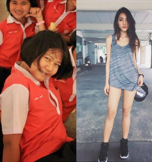 Naika trước và sau khi giảm cân. (Ảnh: Internet)