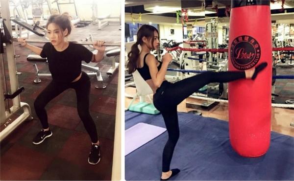 Hotgirl Thái chăm chỉ tập gym nhiều năm nay để có vóc dáng cân đối. (Ảnh: Internet)