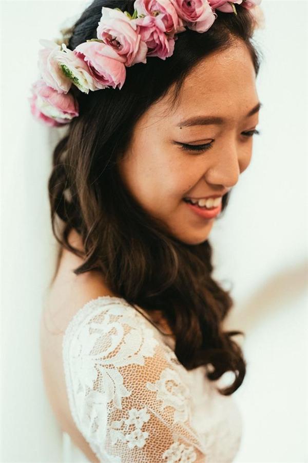 """Elsa Kwok - cô dâu """"may mắn"""" của lễ cưới toàn phù rể nóng bỏng nọ.(Ảnh: FBNV)"""