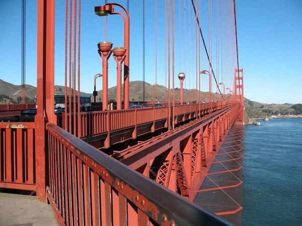 Cầu cổng vàng ở San Francisco.(Ảnh: Internet)