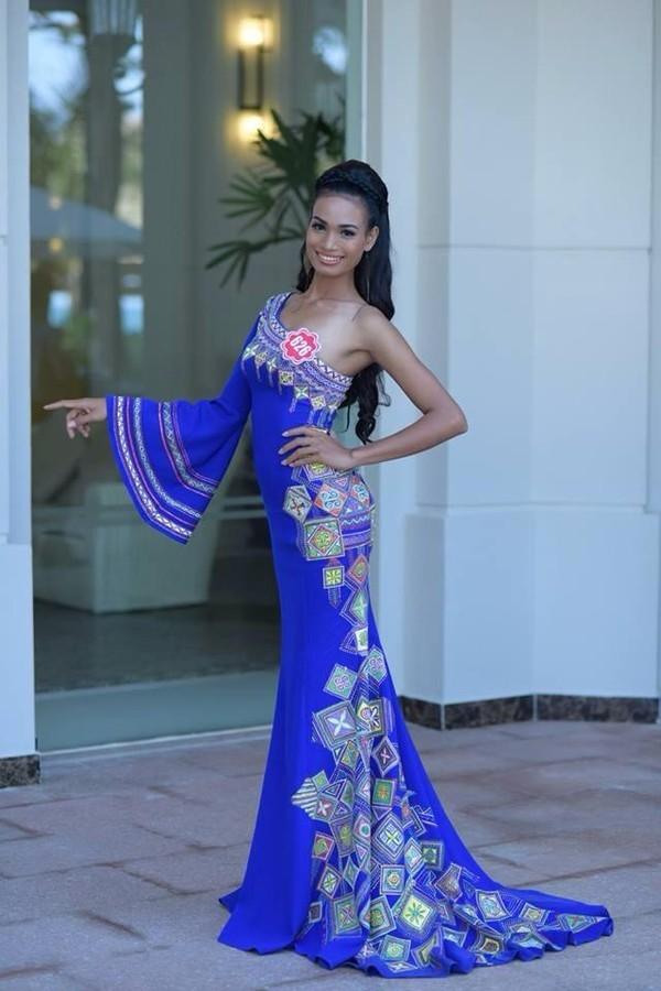 H'Ăng Niê tại Hoa hậu Việt Nam 2014.