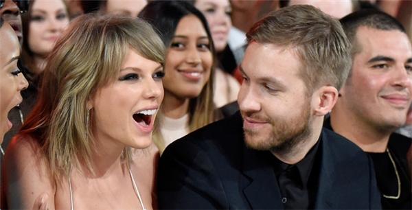 Taylor và bạn trai cũ Calvin Harris.