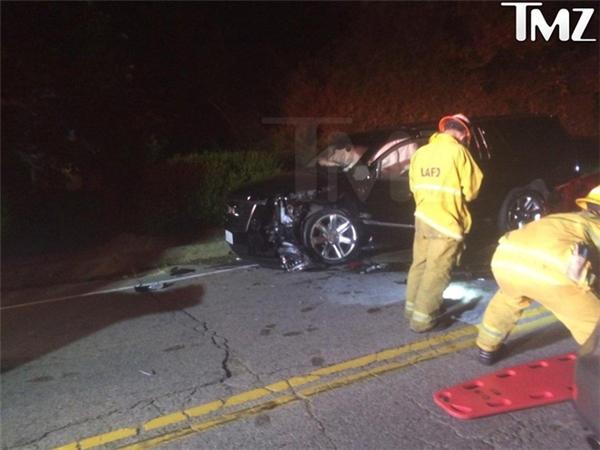 Hiện trường vụ tai nạn mà Calvin gặp phải vừa rồi, người ta nói anh đã rất may mắn khi thoát chết.