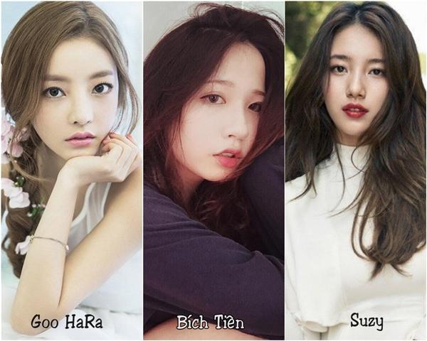 Nhiều người còn cho rằng khuôn mặt của Bích Tiên là sự kết hợp hoàn hảo giữa Suzy và cô ca sĩ xinh xắn Goo Hara của nhóm nhạc nữ đình đám một thời - KARA.(Ảnh: Internet)