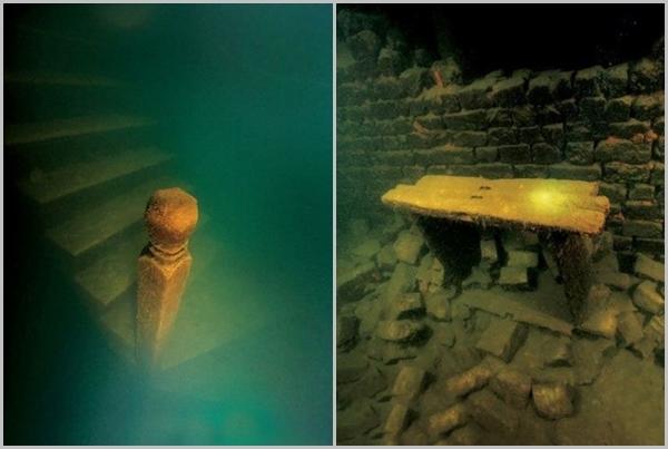 Thành viên của đội thợ lặn đã rất ngạc nhiên vì dù đã bị nhấn chìm nhiều năm, nhưng kiến trúc của thành phố cổ này vẫn được giữ gần như nguyên vẹn, từ những tượng đá, cổng thành được chạm trổ tinh xảo đến cả một số phiến gỗ vẫn không có nhiều thay đổi.(Ảnh Internet)