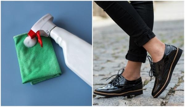 Mang lại độ sáng mới toanh cho đôi giày da cũng như trang sức của bạn bằng nước rửa kính nhé.(Ảnh: Bright Side)