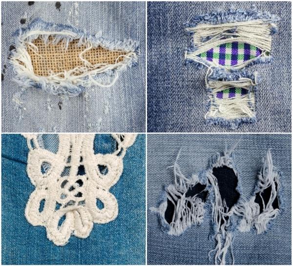 """Thử tham khảo những kiểu """"lấp liếm"""" một cái lỗ đáng ghét trên quần jeans như cách trên xem, bạn sẽ không phải xếp xó chiếc quần yêu thích vào góc tủ.(Ảnh: Bright Side)"""