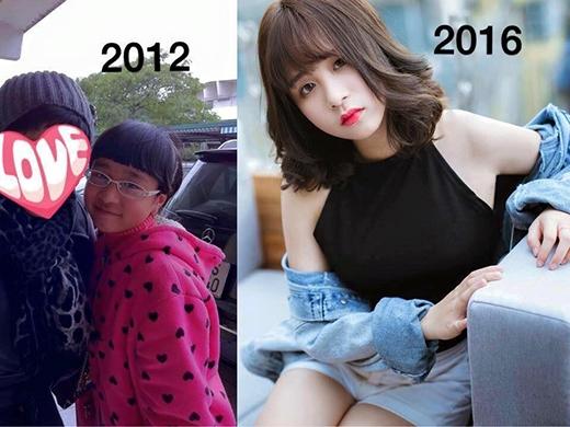 Chỉ sau 4 năm... mà cô gái năm xưa đã trở nên xinh đẹp đến ngỡ ngàng.
