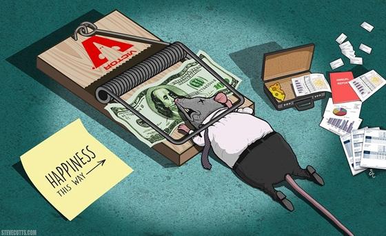 Bạn sẽ rơi vào cái bẫy chết người nếu nghĩ rằng tiền có thể mang lại hạnh phúc.