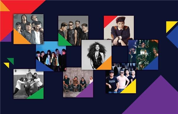 Sea Pride quy tụ nhiều ca sĩ và nhóm nhạc nổi tiếng trong nước và quốc tế.