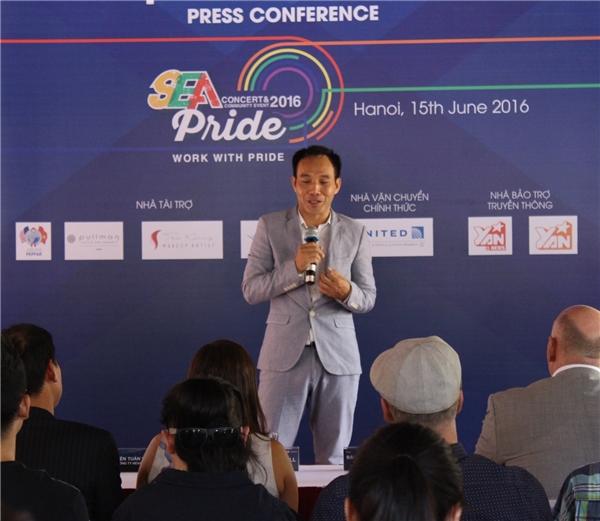 Đại diện cộng đồng LBGT – Bác sĩ Nguyễn Anh Thuận chia sẻ về thông điệpcủa chương trình.