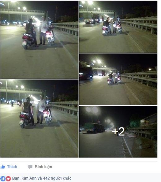 Người phụ nữ dừng lại mua xăng giúp chủ nhân chiếc xe hỏng. Ảnh chụp màn hình.