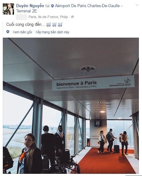 Kỳ Duyên hào hứng khoe với người hâm mộ những hình ảnh đầu tiên tại Pháp. - Tin sao Viet - Tin tuc sao Viet - Scandal sao Viet - Tin tuc cua Sao - Tin cua Sao