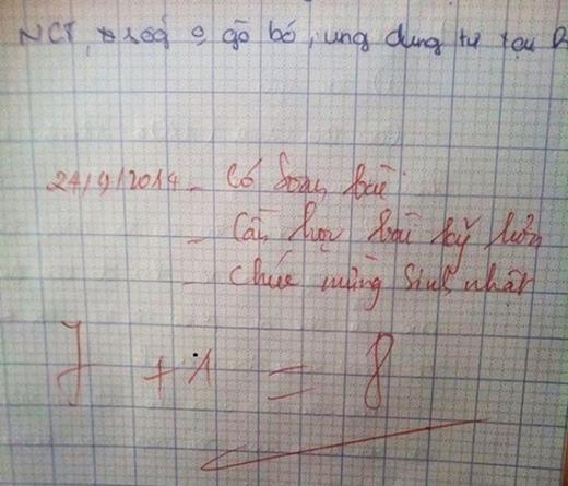 """Sinh nhật được giáo viên """"bo"""" thêm cho 1 điểm nữa nhé.(Ảnh: Internet)"""