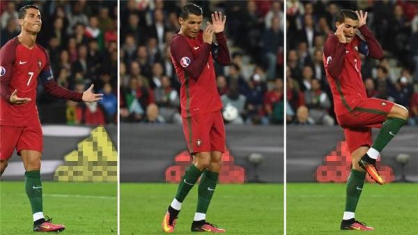 Những phản ứng tức giận của Ronaldo vô tình tạo nên khoảnh khắc giống như đang sợ hãi một điều gì đó, và từ đó loạt ảnh chế dưới đây ra đời.