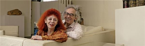 Chân dung ông Christo và người vợ quá cố Jeanne-Claude(Ảnh: Internet)