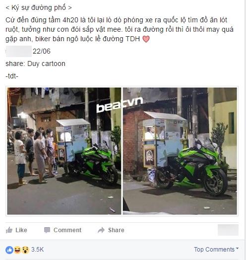 Dòng mô tả khiến nhiều người tưởng rằng anh chàng này đang bán ở đường Trần Duy Hưng. (Ảnh chụp màn hình)