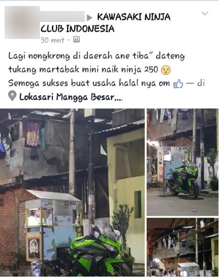 Tấm ảnh được xuất phát đầu tiên trên một fanpage mô tôở Indonesia. (Ảnh: Internet)
