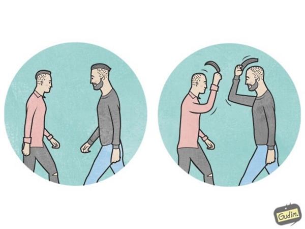 """2. Ngày nay người ta ít đội mũ thì chắc phải """"nhấc tóc"""" để chào nhau mới lịch sự."""