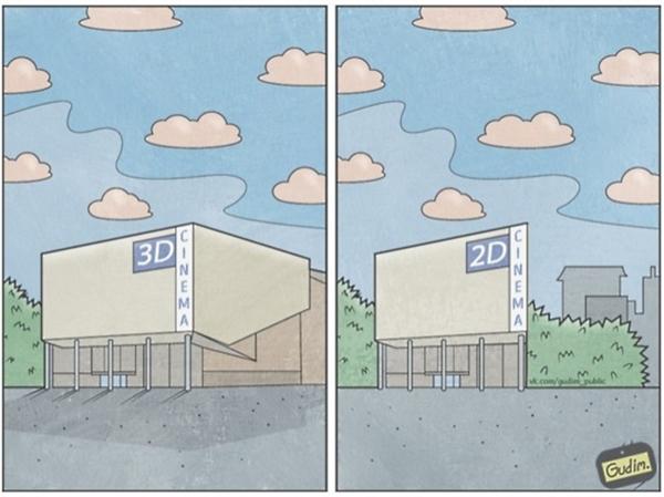 6. Sự khác biệt giữa thế giới 2D và 3D.