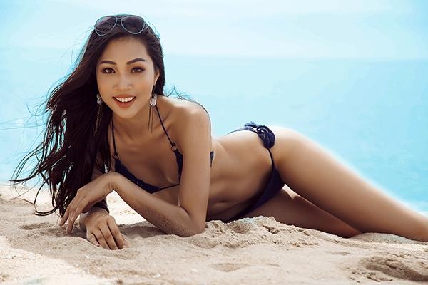 Mới đây, Diệu Ngọc khiến khán giả vô cùng bất ngờ khi phá vỡ hình ảnh an toàn trước đây và xuất hiện trong những khung ảnh táo bạo, gợi cảm với bikini. Chỉ số hình thể hiện tại của cô là 86-62-95 cùng chiều cao 1m80. Theo Hà Anh, với sắc vóc như thế này, đại diện Việt Nam sẽ không bị lép vế với những nhan sắc đến từ khắp nơi trên thế giới.