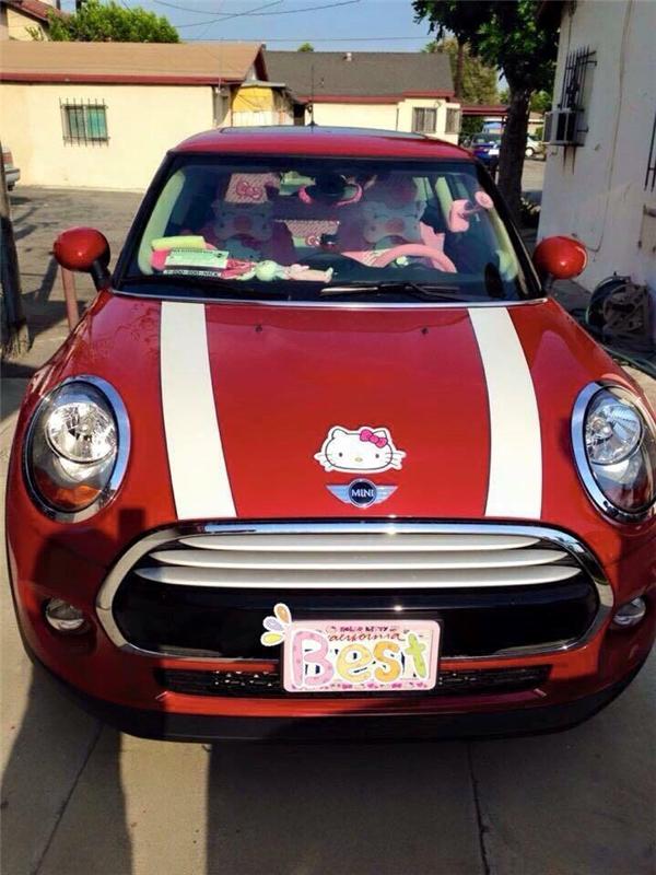 Ngay đến cả xe hơi của cô nàngcũngđược trang trí, chăm chút tỉ mỉ theo đúng sở thích. (Ảnh: Internet)
