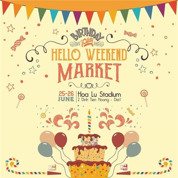 Hàng loạt giải thưởng hấp dẫn đang tìm chủ nhân trêncả 2 fanpage: Hello Weekend Market và Hello Weekend Market TOUR.