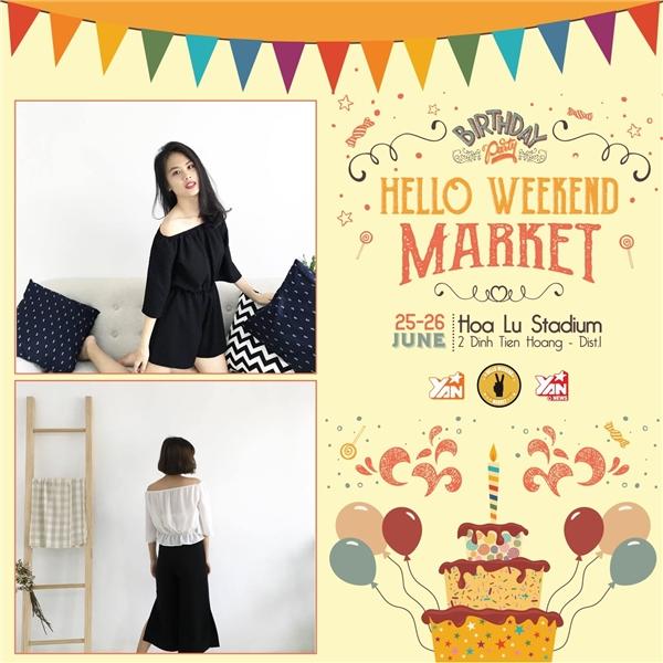 Hello Weekend Market đãi sinh nhật lớn tại TPHCM & Cần Thơ