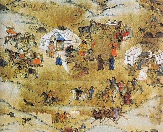 Những người lính Mông Cổ rất thích trò chơi polo đầu người vì nó giúp họ rèn luyện kỹ năng chiến đấu và khẳng định bản thân. (Ảnh: Internet)