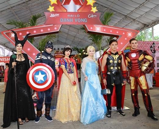 Rất nhiều các nhân vật hoạt hình và siêu anh hùng nổi tiếng sẽ xuất hiện tại ngày hội.