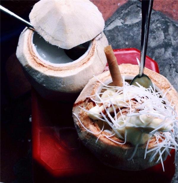 Kem dừa – món ăn vặt không bao giờ lỗi thời. (Ảnh: Internet)