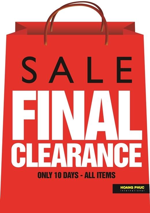 Final Clearance Sale - Bùng nổ mua sắm tiết kiệm lớn nhất mùa hè 2016