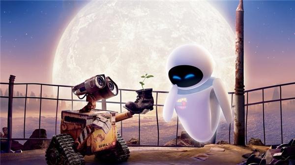 Tình yêu đầy lãng mạn giữa Wall - E và Eve. (Ảnh: Internet)