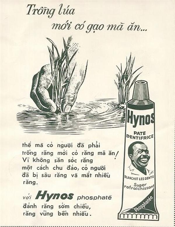 Quảng cáo kem đánh răng Hynos được đánh giá là một trong những đột phá trong quảng cáo thời bấy giờ. Ông chủ của Hynos đã mạnh dạng chi 50% lợi nhuận để đầu tư cho công tác truyền thông. Khai thác tối đa nghệ thuật ngôn từ và liên tưởng độc đáo, mẫu quảng cáo này trở nên vô cùng hài hước và thân thiện.