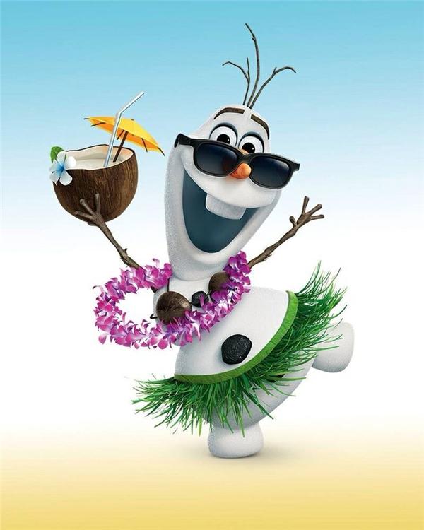 Được đi tắm nắng trên bãi biển là ước nguyện lớn nhất của Olaf. (Ảnh: Internet)