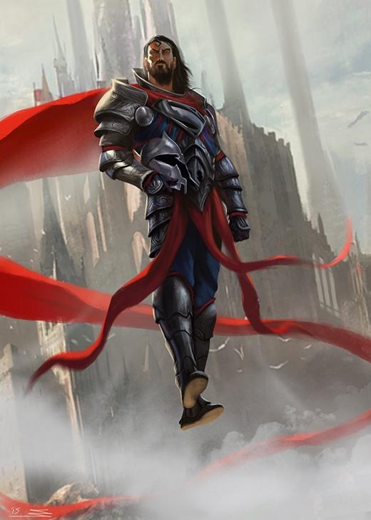 Bộ giáp sắt dù không cần thiết đối với chàng trai thép này nhưng nó khiến anh trông uy nghi, lẫm liệt hơn bội phần. (Ảnh: Omar Samy)
