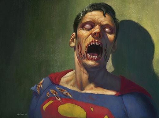 Nếu Siêu nhân thực sự bị biến thành xác sống thì anh cũng vẫn sẽ là một xác sống mạnh nhất thôi. (Ảnh: otomozok)