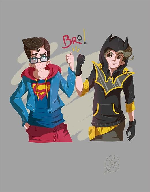 Siêu nhân và Người dơi sẽ trở thành bạn thân thay vì là hai người có phần đối nghịch nhau như hiện tại. (Ảnh: Fabiano Freitas)