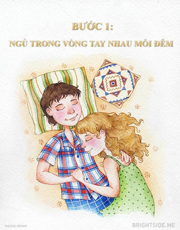 Giấc ngủ bình yên bên người mình yêu sẽ xua tan sự mệt mỏi của ngày dài làm việc.