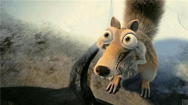 Với đôi mắt to lồi và cái mõm dài quá khổ cộng với biểu cảm khuôn mặt lúc nào cũng hớn hở như bắt được vàng, Scrat là điểm nhấn không thể nào quên trong kho tàng hoạt hình đồ sộ của Disney. (Ảnh: Internet)