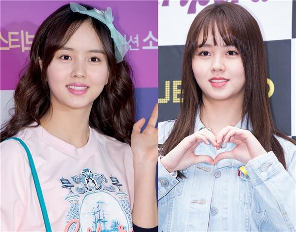 """Sở hữu vầng trán cao khiến sao nhí Kim So Hyun luôn phải """"trung thành"""" với chiếc mái ngang che khuyết điểm. May mắn thay, cô nàng lại rất hợp với kiểu tóc này và hoàn toàn không ảnh hưởng đến việc thay đổi hình tượng qua từng vai diễn."""